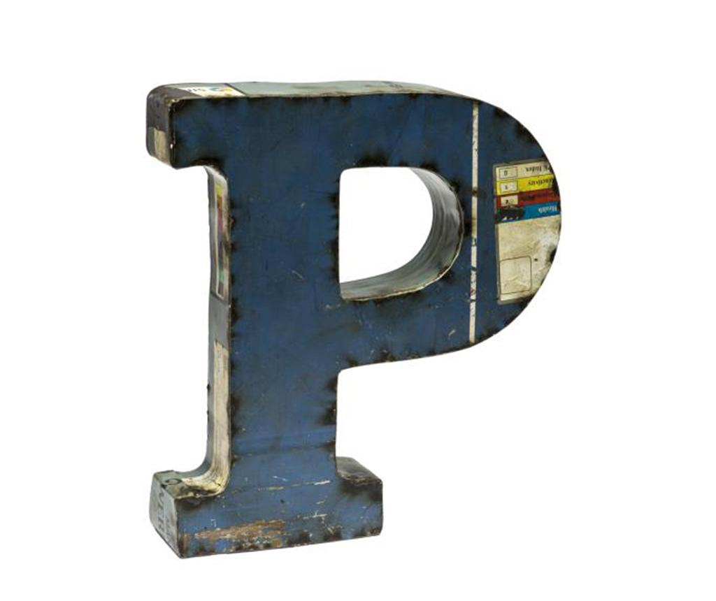 Decoratiune Letter P - Novita Home, Albastru