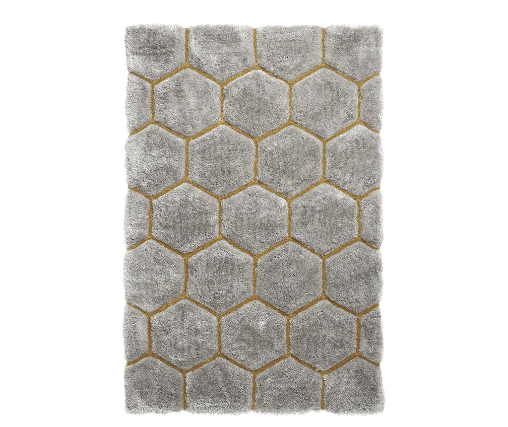 Covor Noble House Comb Grey Yellow 120x170 cm - Think Rugs, Gri & Argintiu vivre.ro