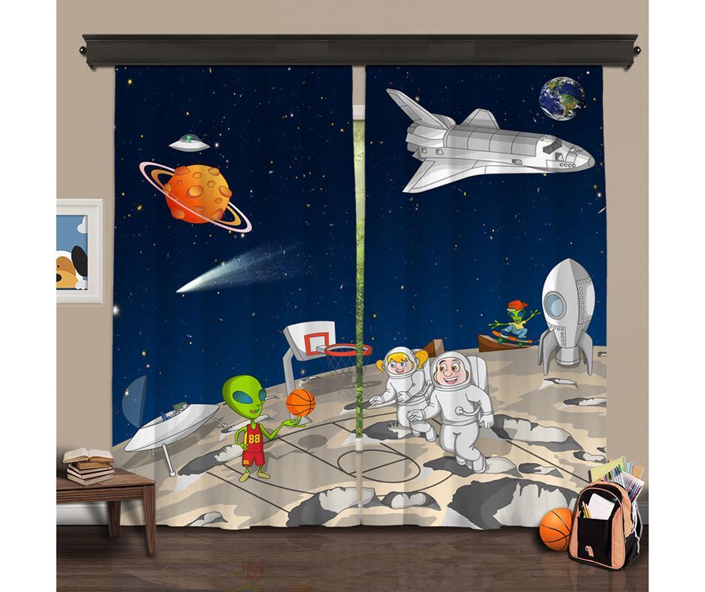Set 2 draperii Universe 140x260 cm - Cipcici, Multicolor imagine