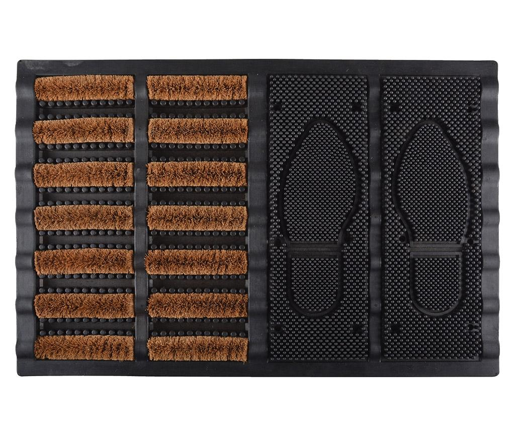 Covoras de intrare Happy Boot 40x60 cm - Esschert Design, Maro,Negru