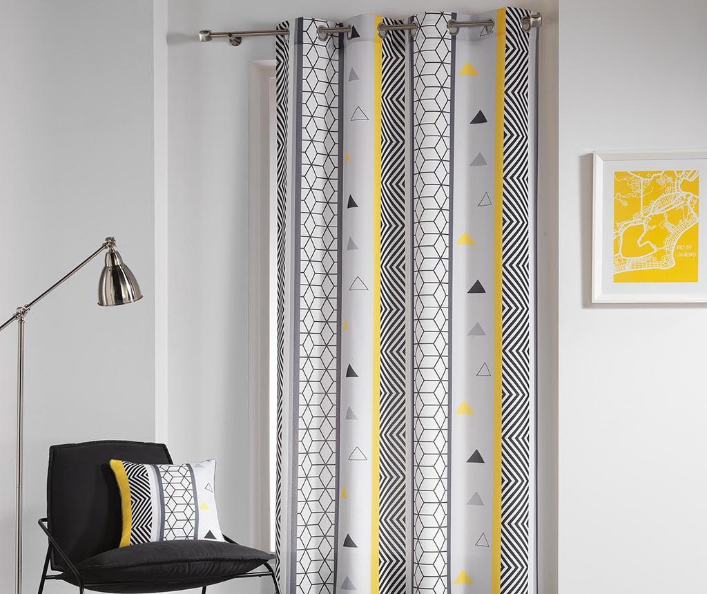 Draperie Yellow Mix 140x260 cm - L3C, Gri & Argintiu de la L3C