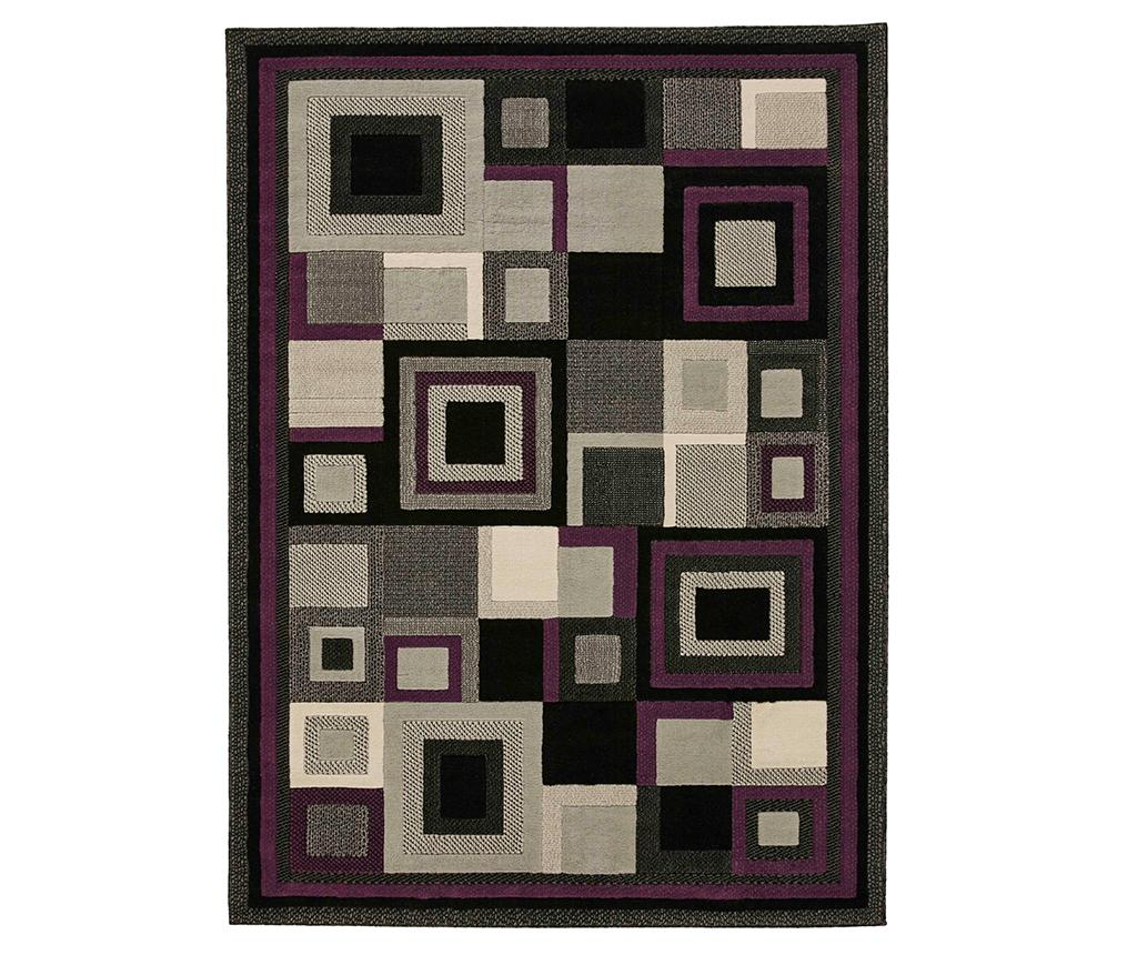 Covor Hudson Purple 80x150 cm - Think Rugs, Mov,Negru poza