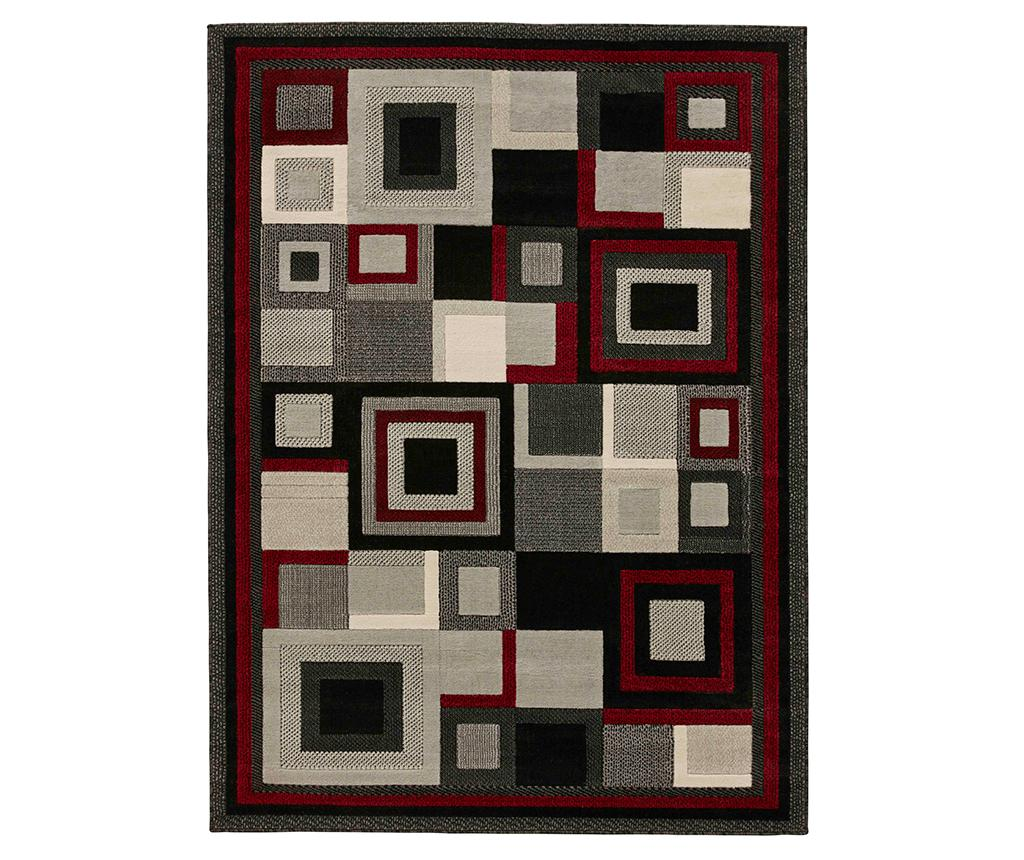 Covor Hudson Red 80x150 cm - Think Rugs, Gri & Argintiu,Rosu imagine