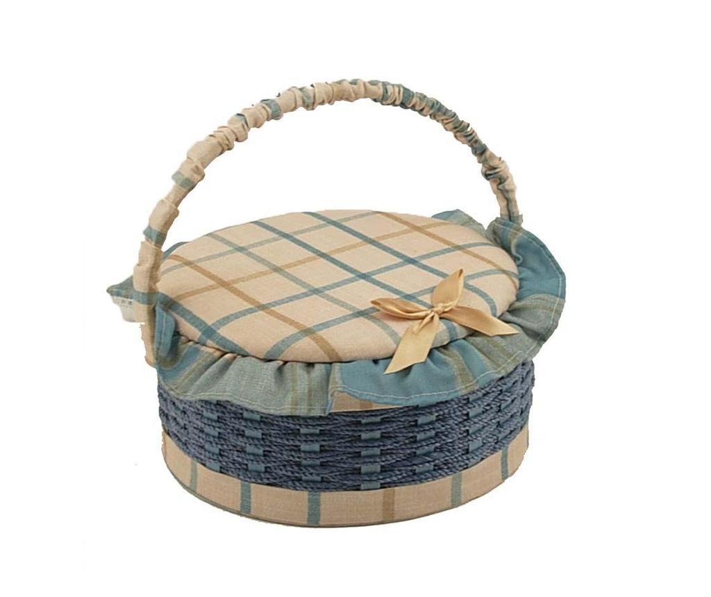 Cos cu capac pentru accesorii de cusut Gialle Round imagine