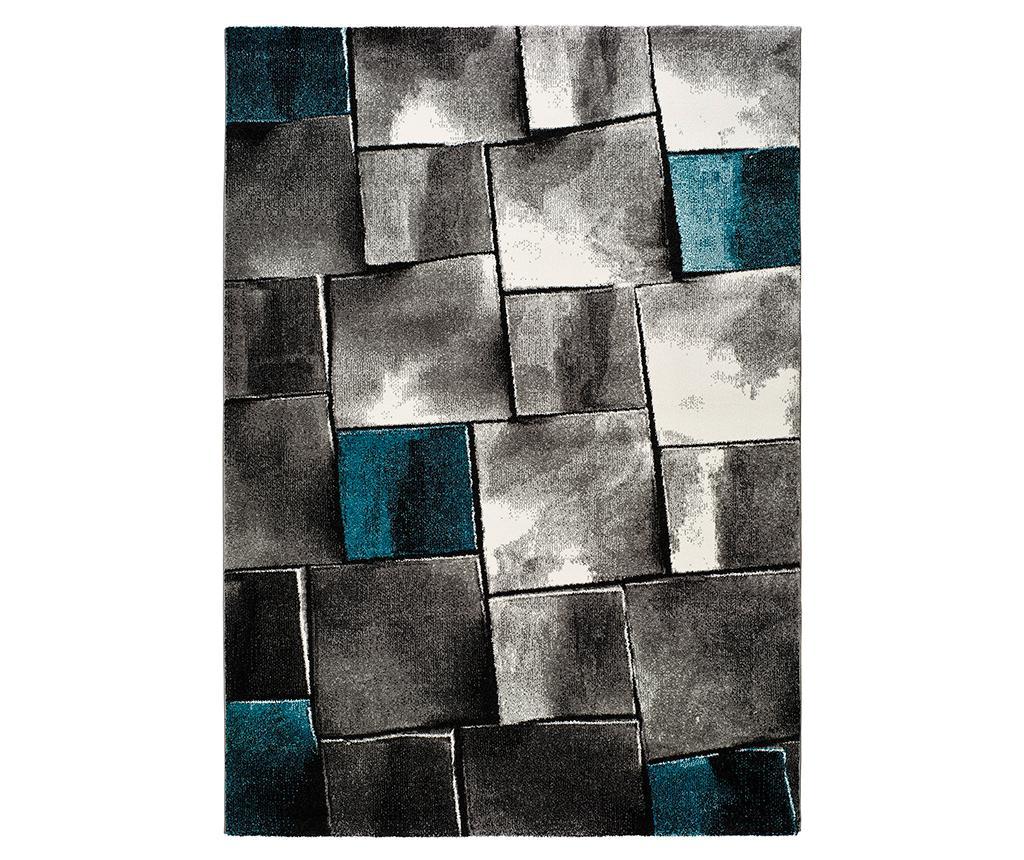 Covor Amy Blue 140x200 cm - Universal XXI, Albastru,Gri & Argintiu,Multicolor poza