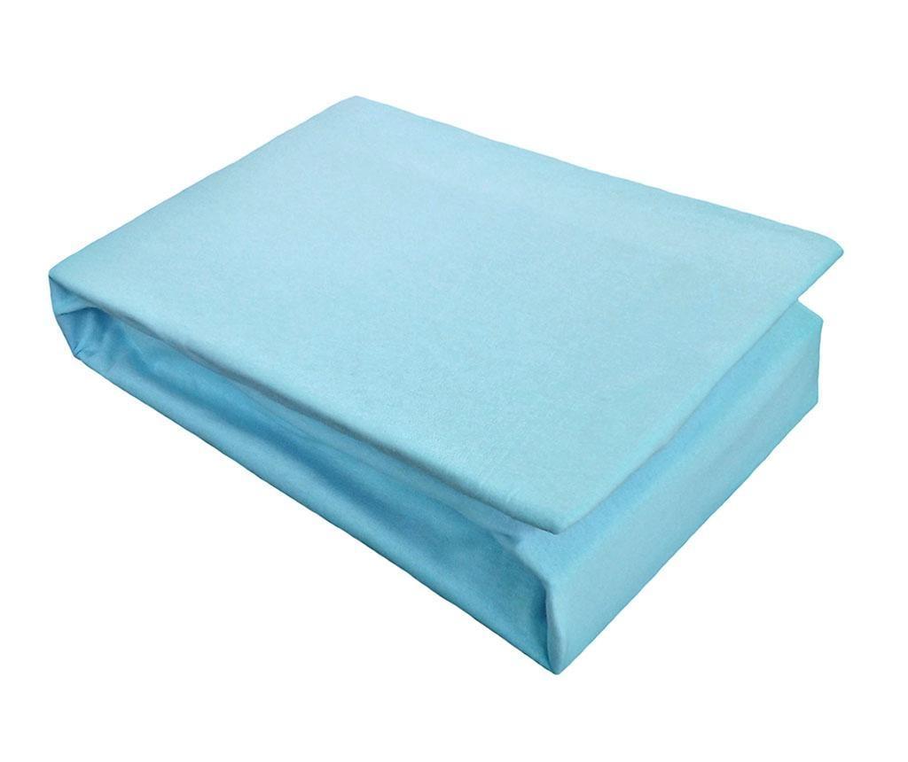 Cearsaf de pat cu elastic Jersey Light Blue 100x200 cm