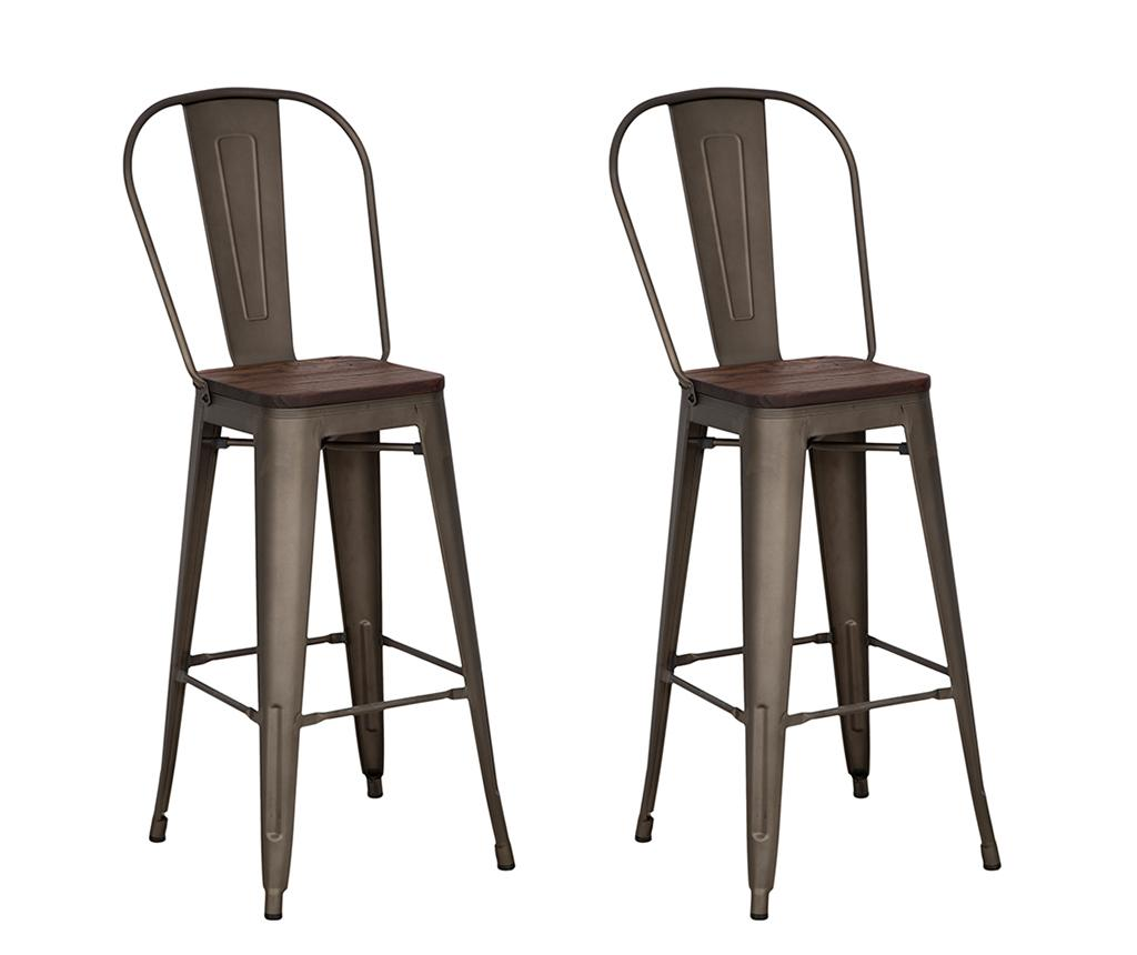 Set 2 scaune de bar Detroit - Mauro Ferretti, Maro imagine