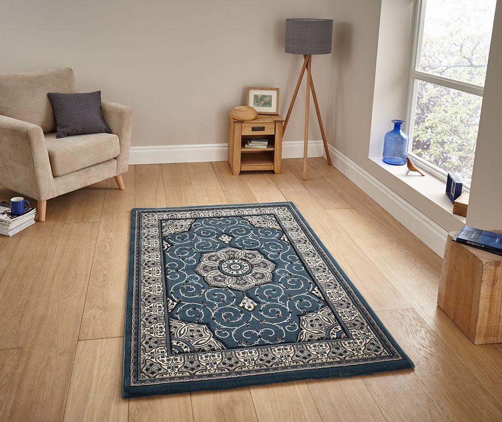 Covor Heritage Blue 280x380 cm - Think Rugs, Albastru imagine