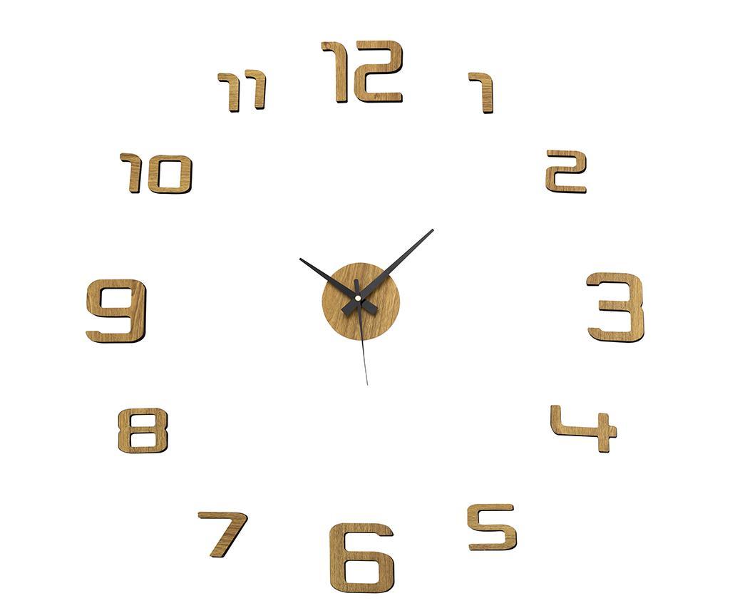 Ceas sticker de perete Golden Round imagine