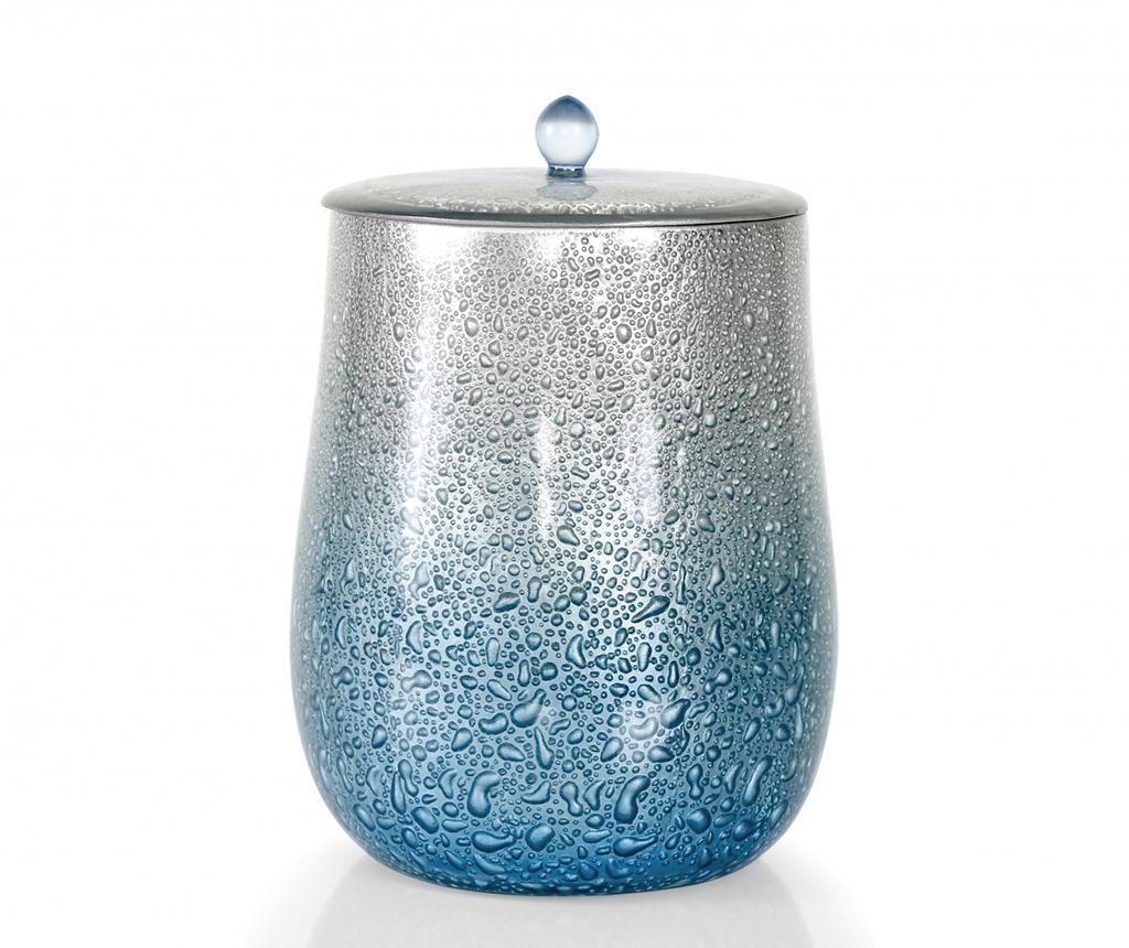 Cos de gunoi cu capac Drop Torquoise - Irya, Albastru