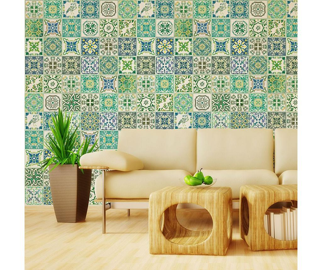 Set 12 stickere Turkish Green Mosaic imagine