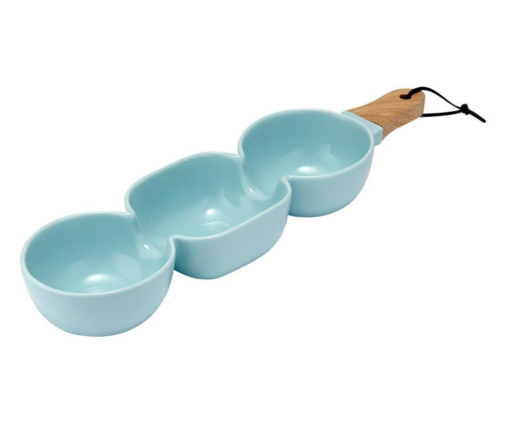 Bol pentru aperitive Classic Serve Three Aqua