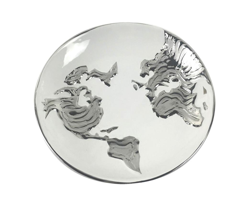 Platou decorativ Equinoxe World Map Round imagine