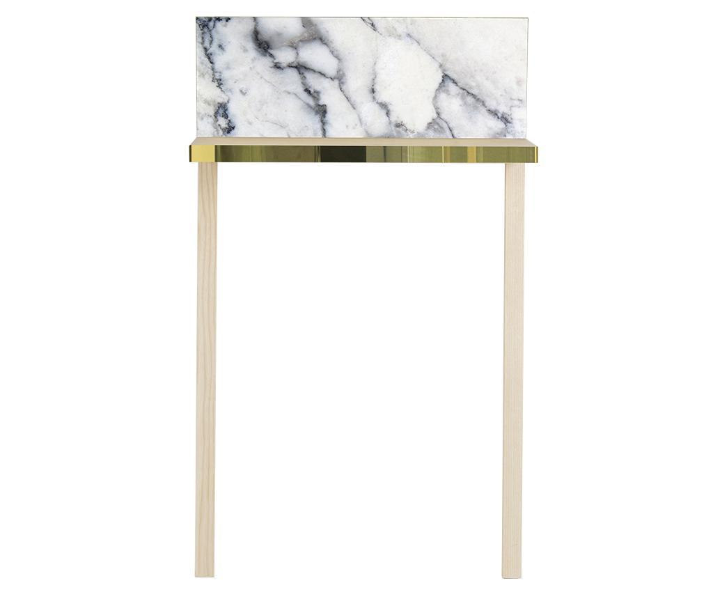 Consola Gliss White Marble - Surdic, Alb
