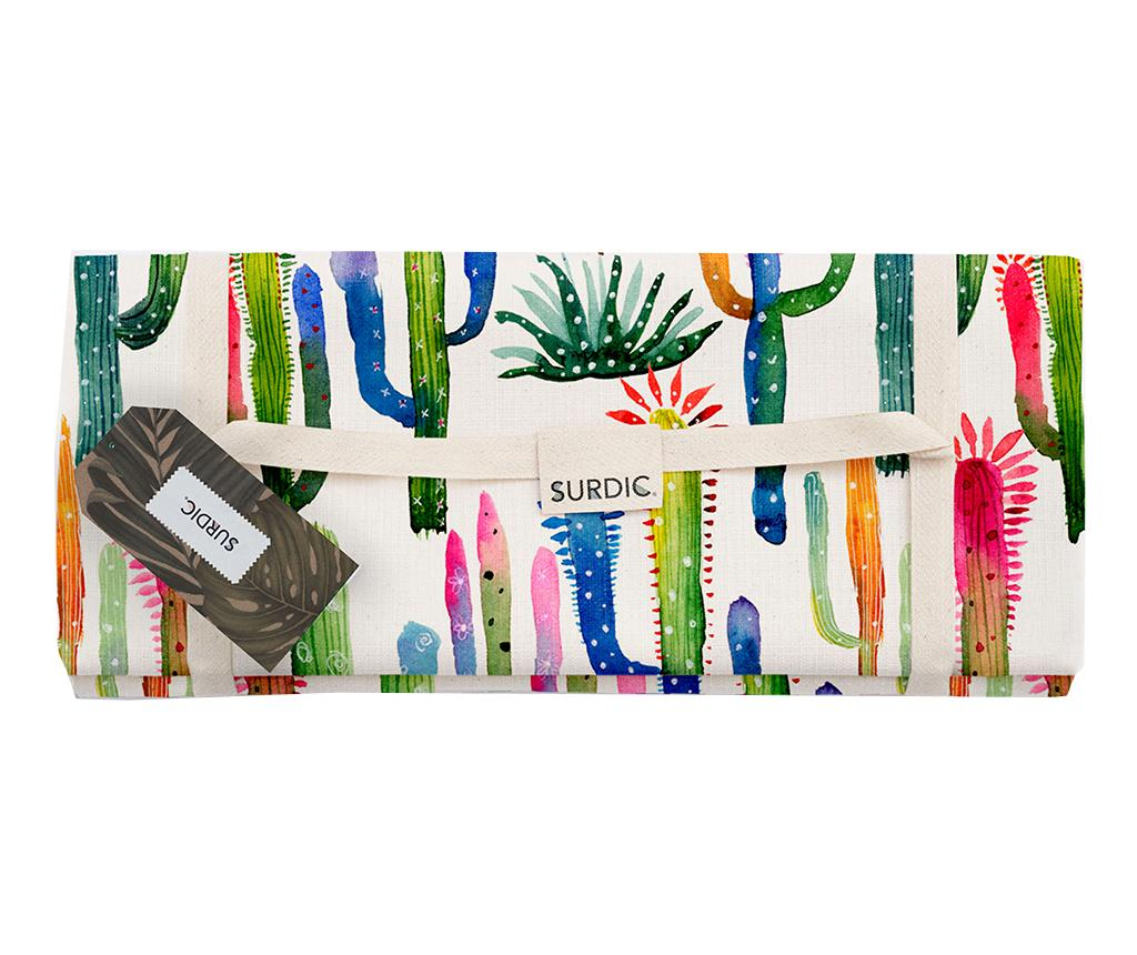 Patura pentru picnic Watercolor Cactus 140x170 cm imagine