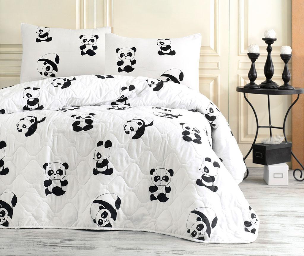 Set cuvertura matlasata Single Panda - EnLora Home, Alb de la EnLora Home