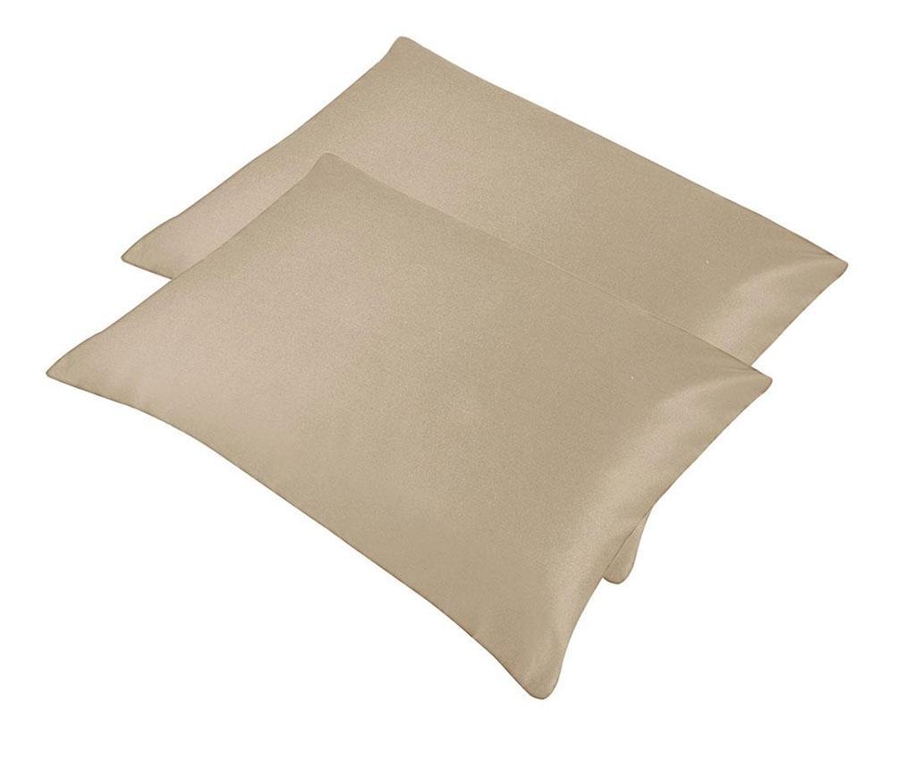 Set 2 fete de perna Payas Beige 50x70 cm