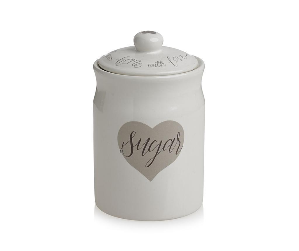 Recipient cu capac pentru zahar Love Heart 450 ml