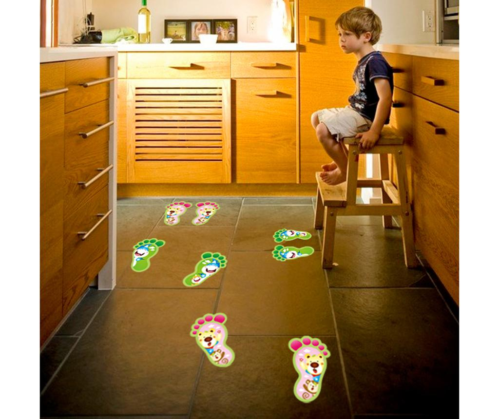 Set 4 stickere fosforescente Footprint