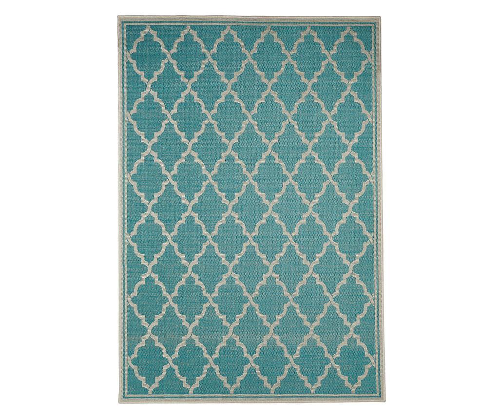 Covor Intreccio Turquoise 135x190 cm - Floorita, Albastru imagine