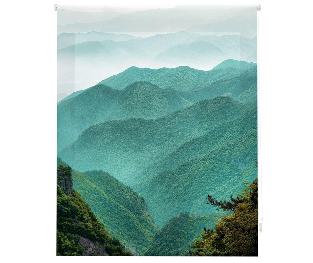 Jaluzea tip rulou Mountain Path 80x180 cm - Blindecor, Verde imagine