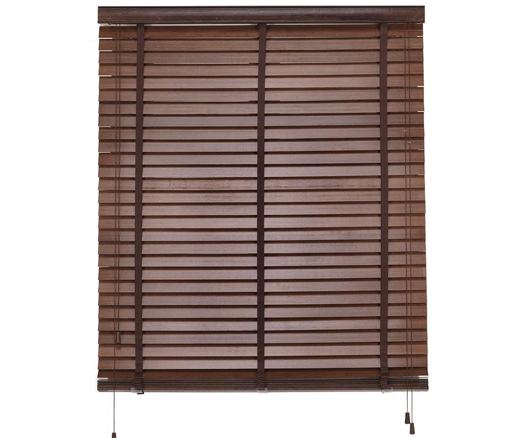 Jaluzea Bamboo Venetian Brown 140x180 cm - Blindecor, Maro imagine