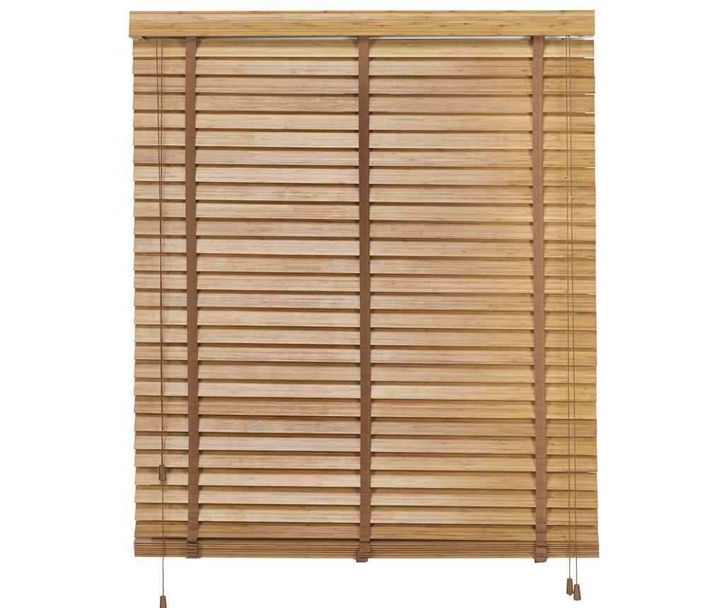 Jaluzea Bamboo Venetian Oak 180x180 cm imagine