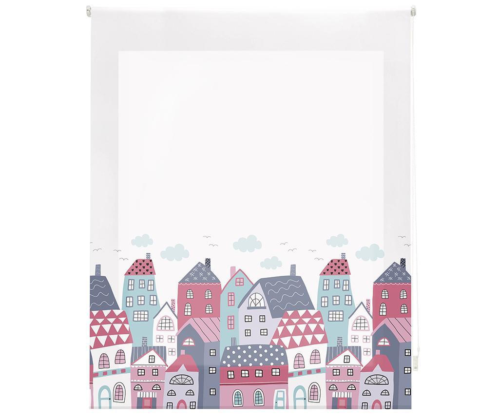 Jaluzea tip rulou Colorful Houses 80x180 cm