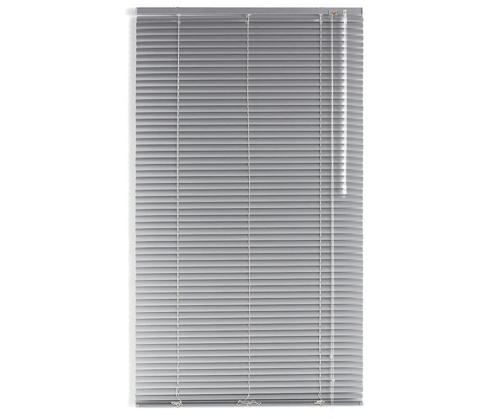 Jaluzea Venetian Aluminum Silver 80x250 cm - Blindecor, Gri & Argintiu poza