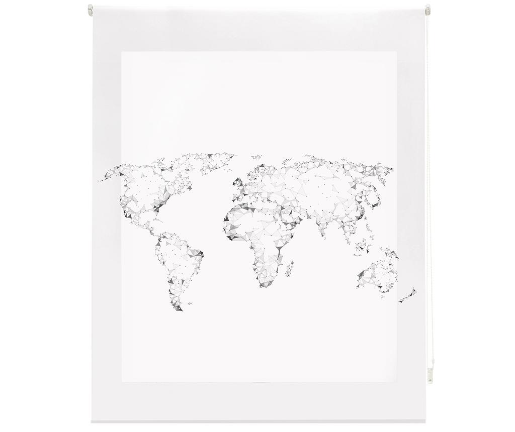 Jaluzea tip rulou World Map 160x180 cm - Blindecor, Alb imagine