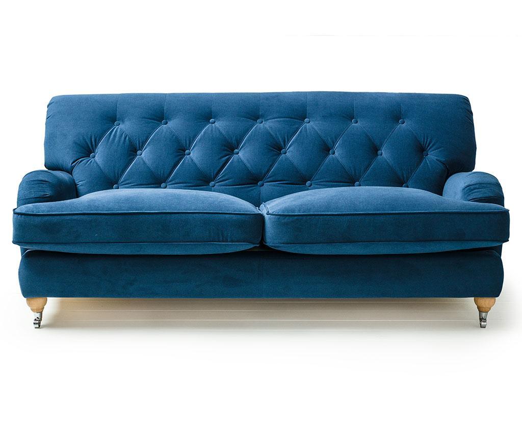Canapea 3 locuri Silva Deep Blue - Optisofa, Albastru imagine