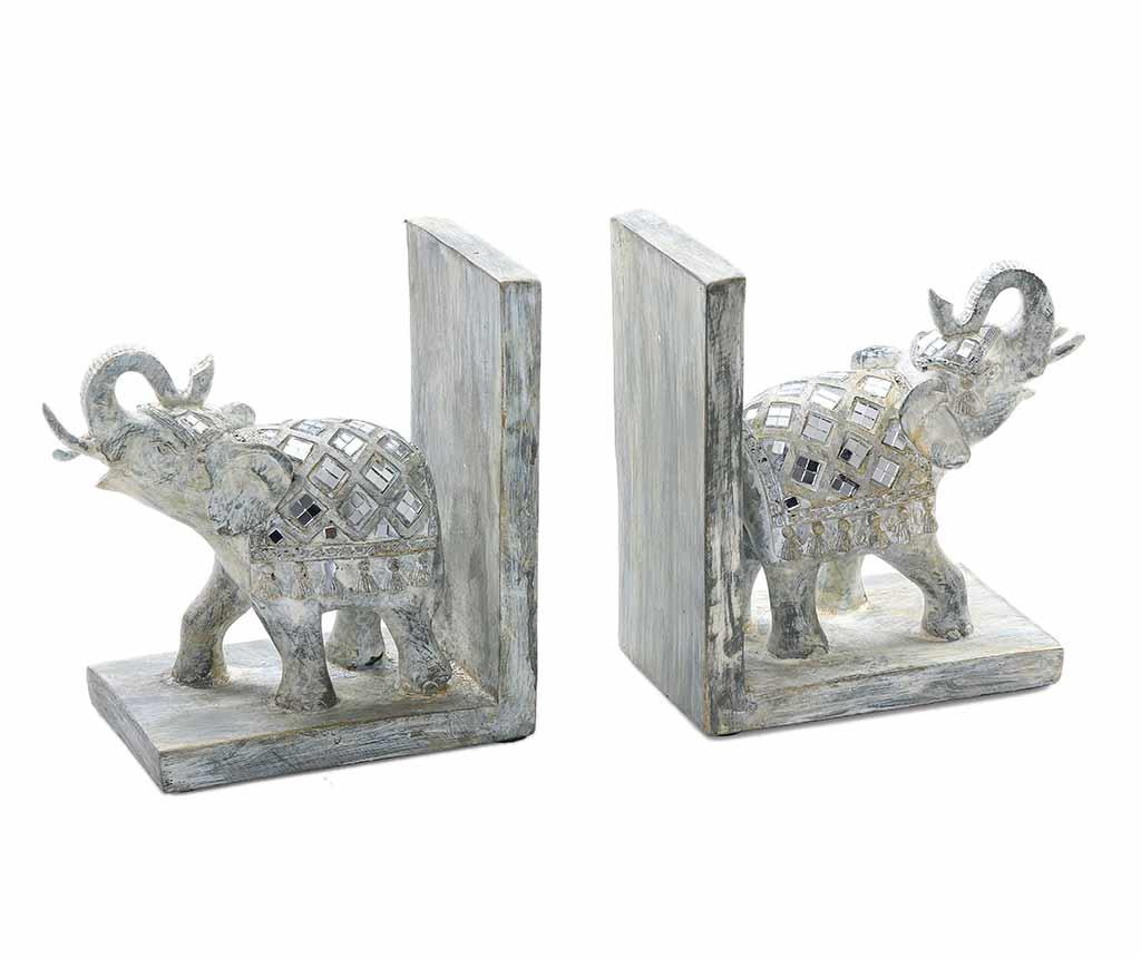 Set 2 suporturi pentru carti Phebian Elephants
