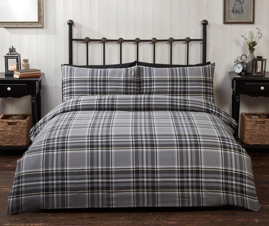 Set de pat Double Campbell Black - So Soft, Negru imagine