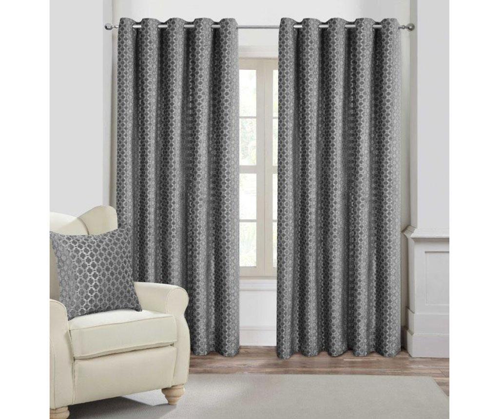 Set 2 draperii Palermo Silver 168x229 cm