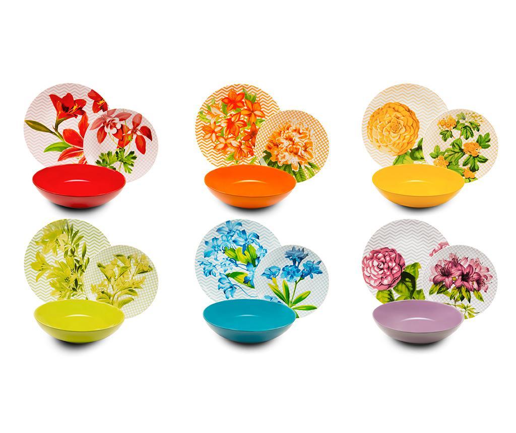 Set de masa 18 piese Floral vivre.ro