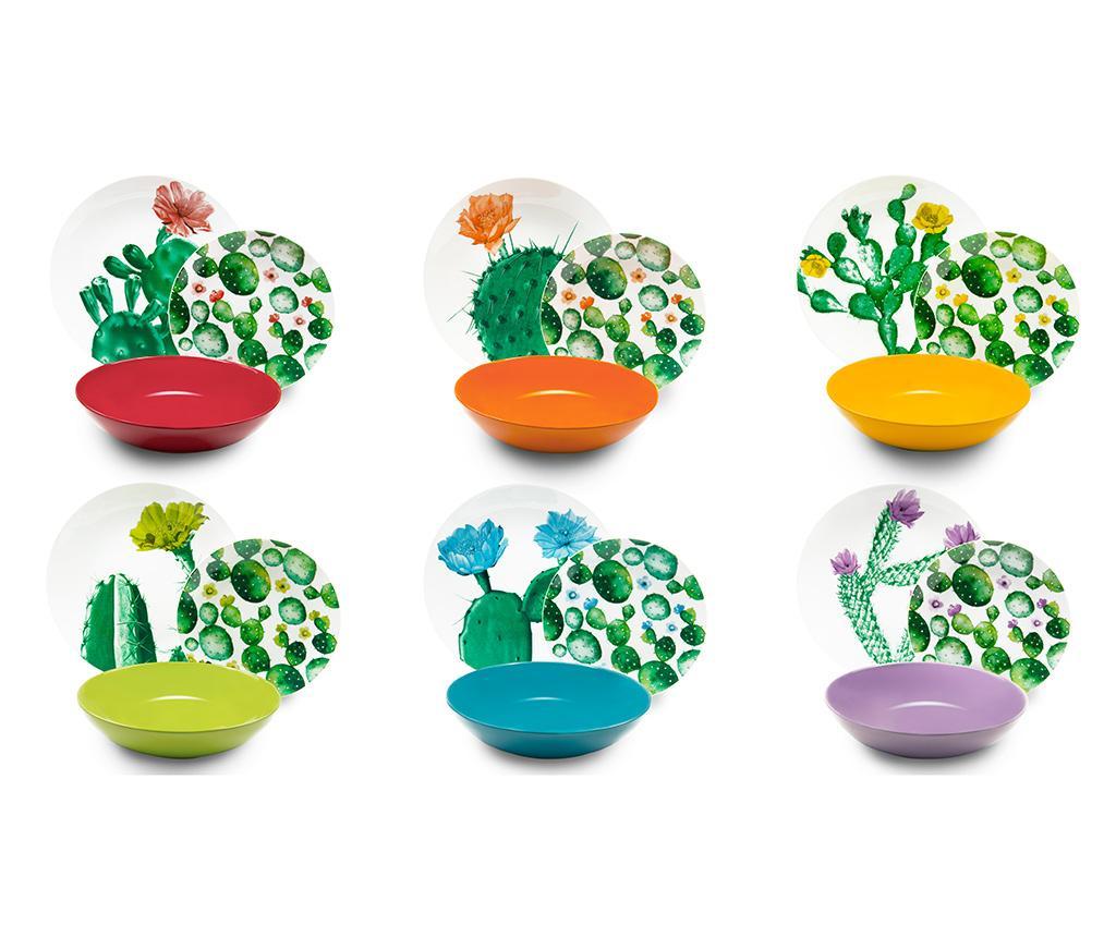 Set de masa 18 piese Color Cactus vivre.ro