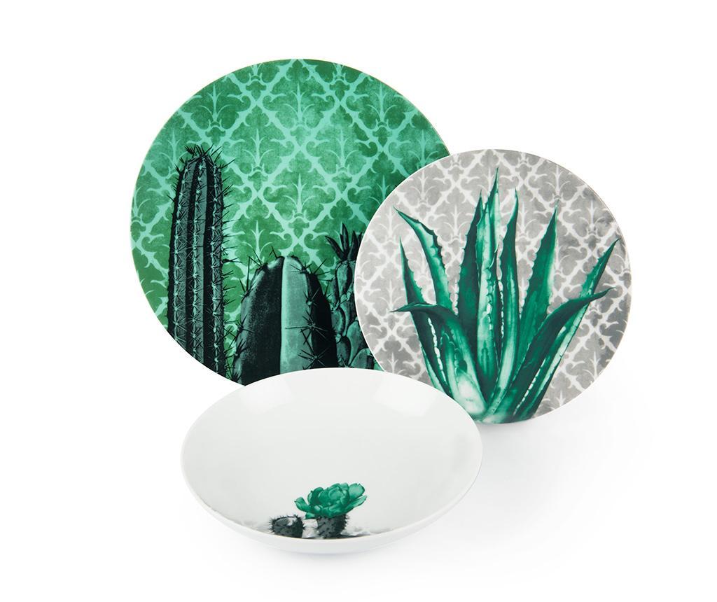 Set de masa 18 piese Barrio de Cactus vivre.ro