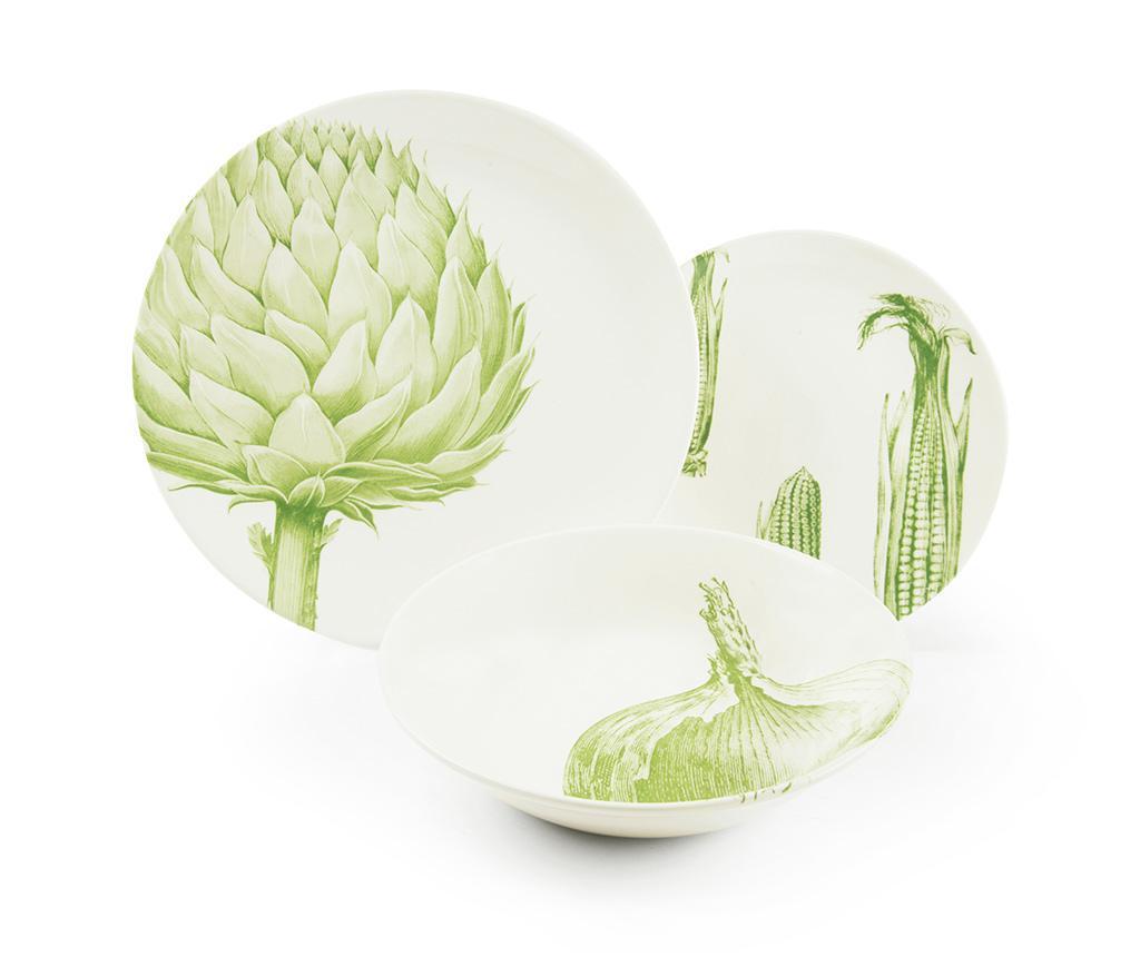 Set de masa 3 piese Flore et Faune Vegetables - Excelsa, Alb imagine