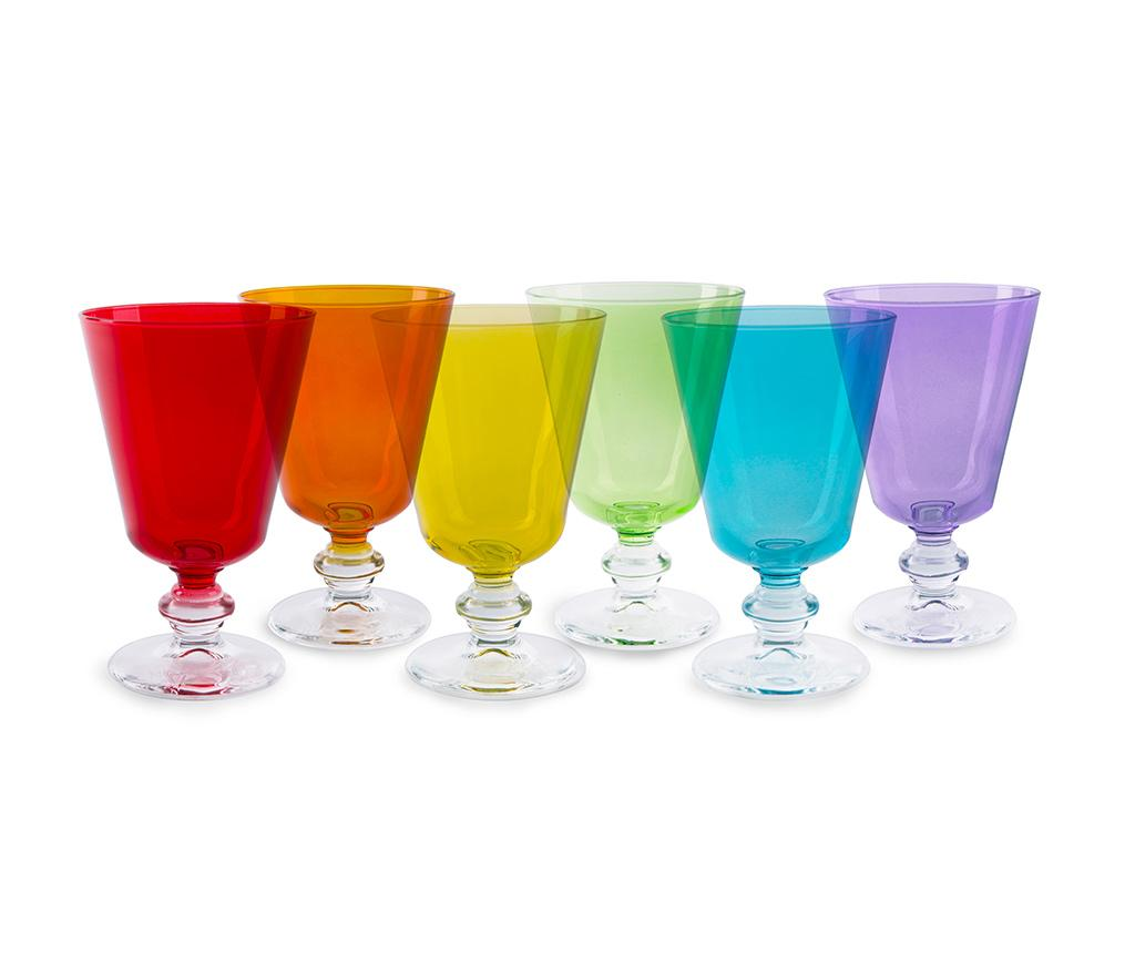 Set 6 pahare pentru vin Noble 280 ml - Excelsa, Multicolor de la Excelsa
