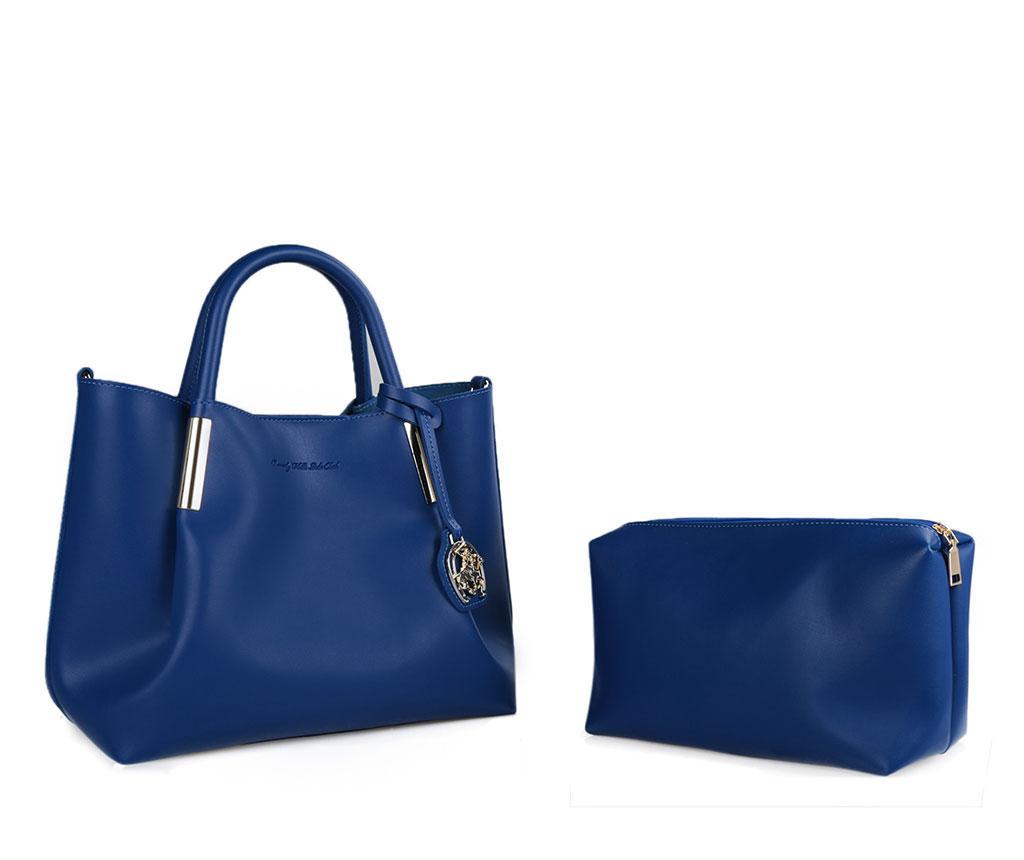 Geanta Farrah Sax Blue - Beverly Hills Polo Club, Albastru