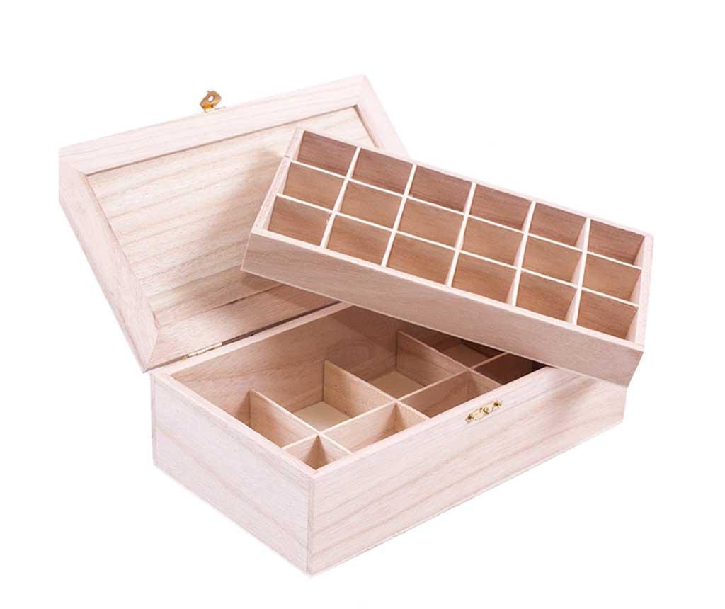 Krabice s víkem na čaj DIY Scatol