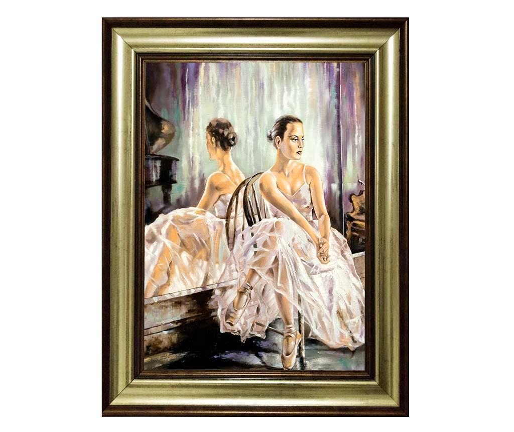 Tablou White Ballerina 40x50 cm - Tablo Center, Multicolor imagine