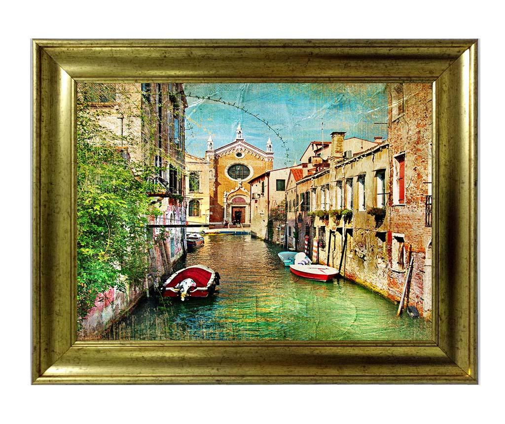 Tablou Venice Street 60x80 cm - Tablo Center, Multicolor imagine