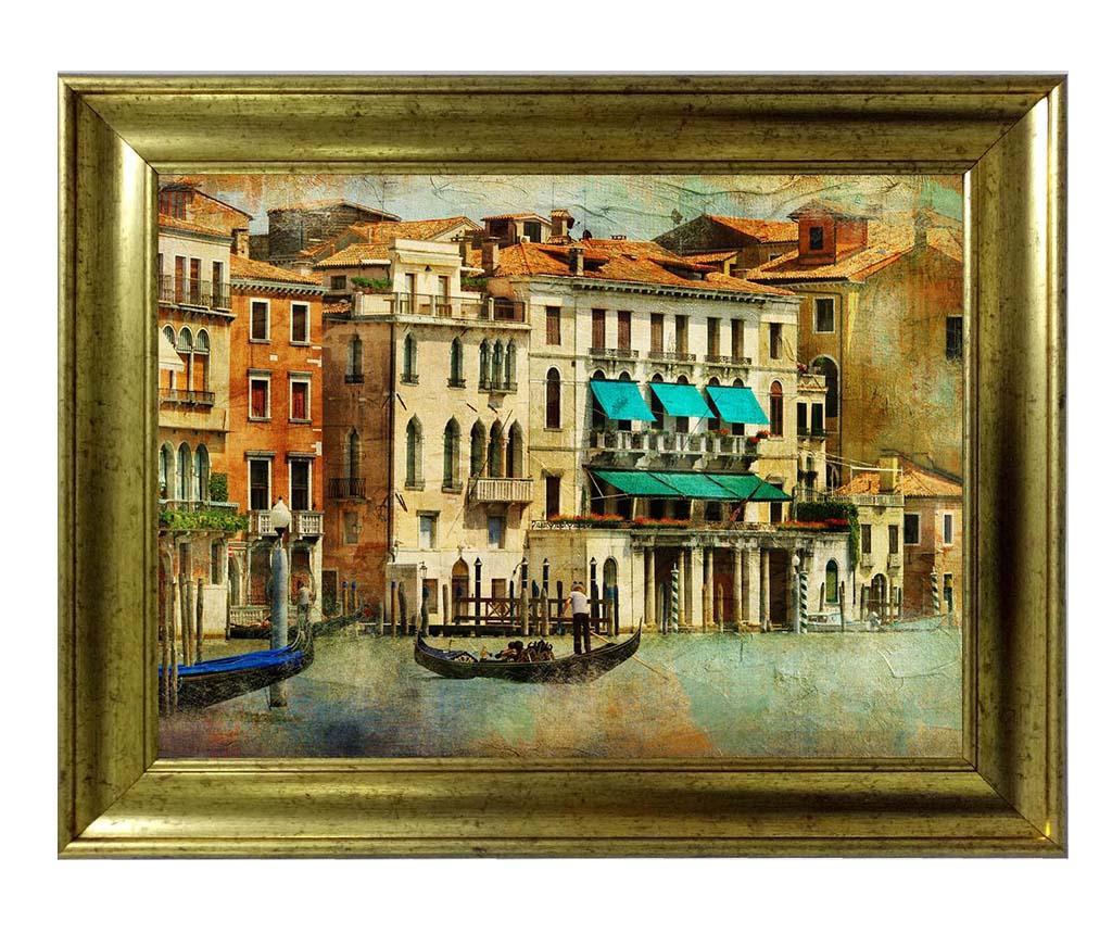 Tablou Venice by Boat 80x110 cm - Tablo Center, Multicolor poza