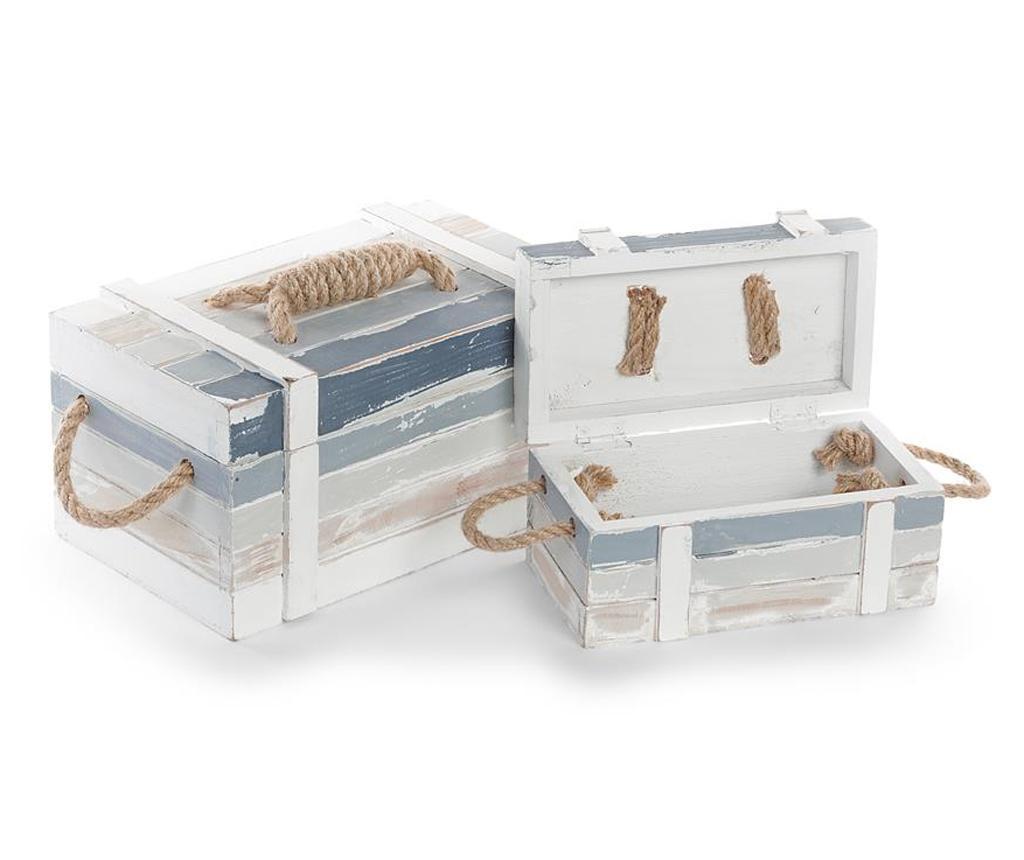 Set 2 cutii cu capac Sea