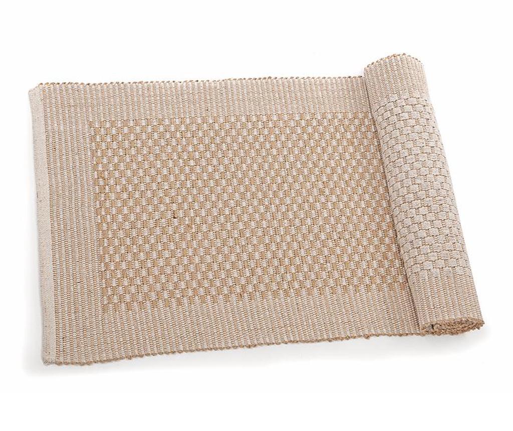 Covor tip pres Sandrine Natural 50x160 cm - Disraeli, Crem imagine