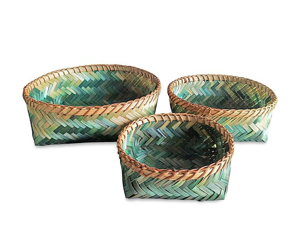 Set 3 cosuri Binah Round - Disraeli, Verde