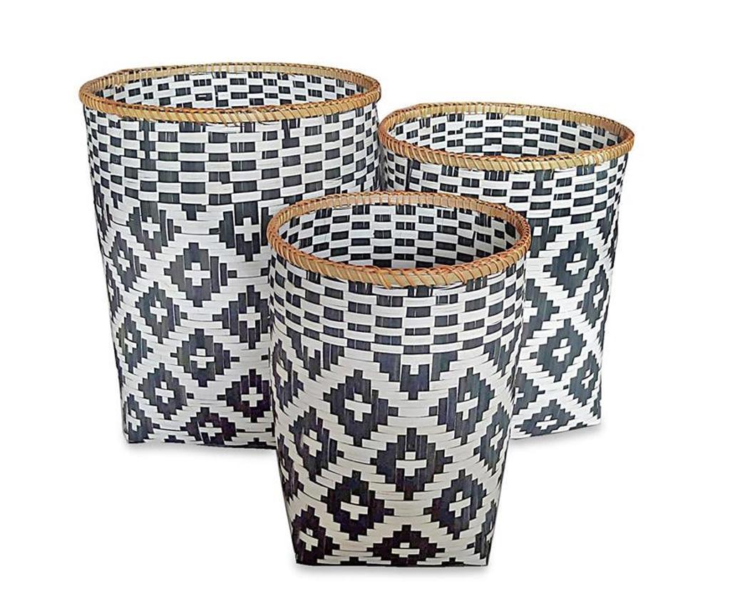 Set 3 cosuri Tamika Round - Disraeli, Gri & Argintiu imagine