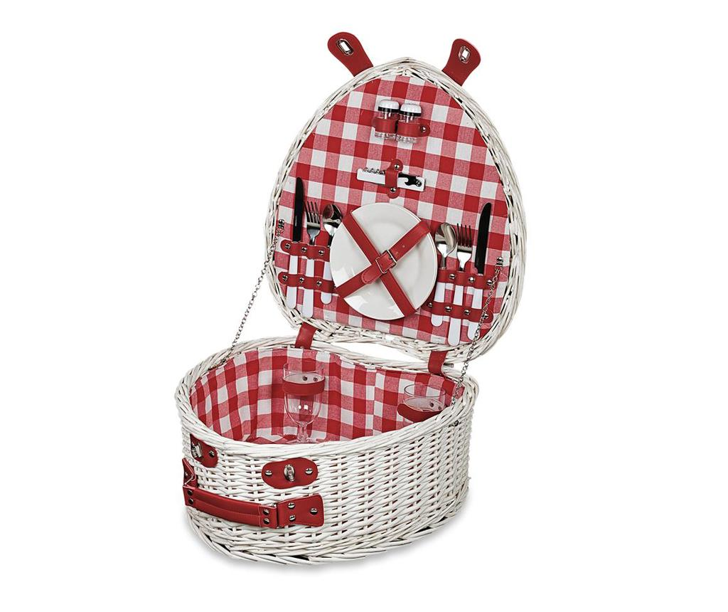 Cos echipat pentru picnic 2 persoane Heart imagine