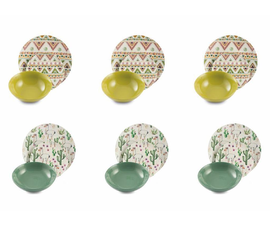 Set de masa 18 piese Lamalima - Villa D'Este, Multicolor imagine
